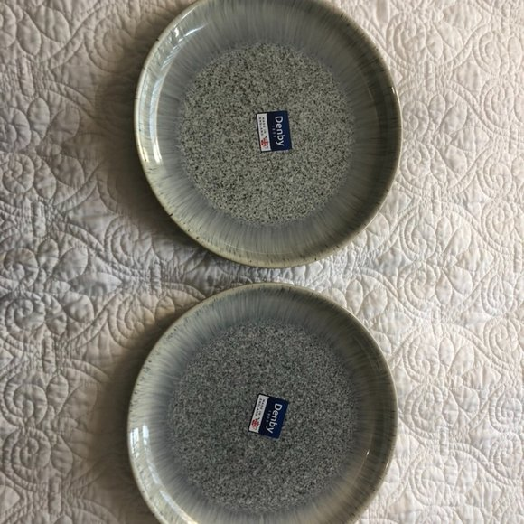 """NWT Denby Halo Dinner Plates 10"""" in Blue Gray"""